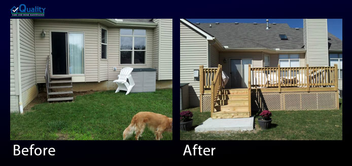 Before and After Decks