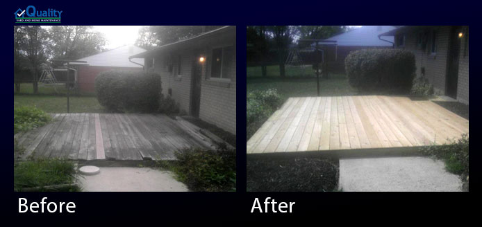 Before and After Deck Repairs