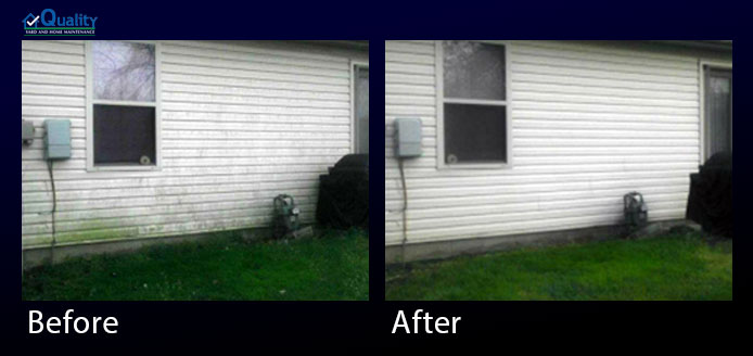Before and After Powerwash House