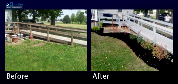 Before and After Landscaping and Ramp