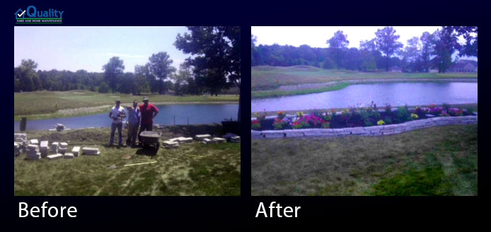 Before and After Landscaping - Build Landscape Bed