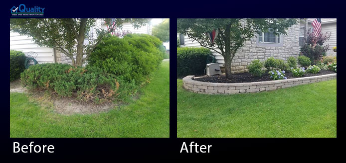 Before and After Retaining Wall